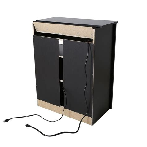 Charging Station Cabinet by South Shore Bel Air Charging Station Cabinet Black