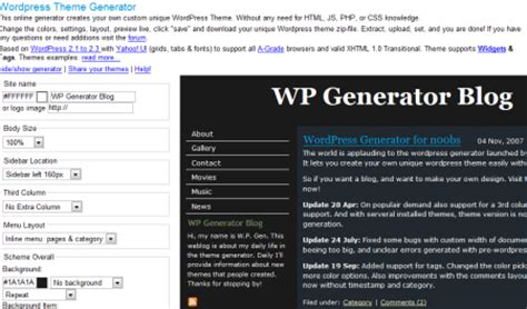 theme website generator top 10 template generators for blogs and websites