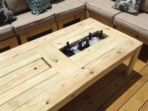 coffee table with cooler how to make table with built in cooler diy crafts