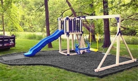 swing set rubber mulch wood vinyl swing sets rubber mulch curbing wayside