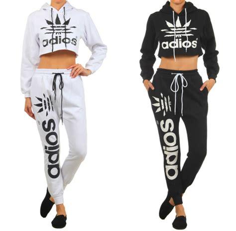 Set Lettering Jacket Sweatpants shopaholicfashionistas new trendy adios crop top hoodie