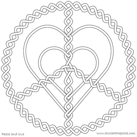 coloring pages for adults peace peace love heart mandala pattern mandala free printable