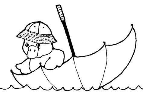 coloring page duck with umbrella mormon share duck floating in tube