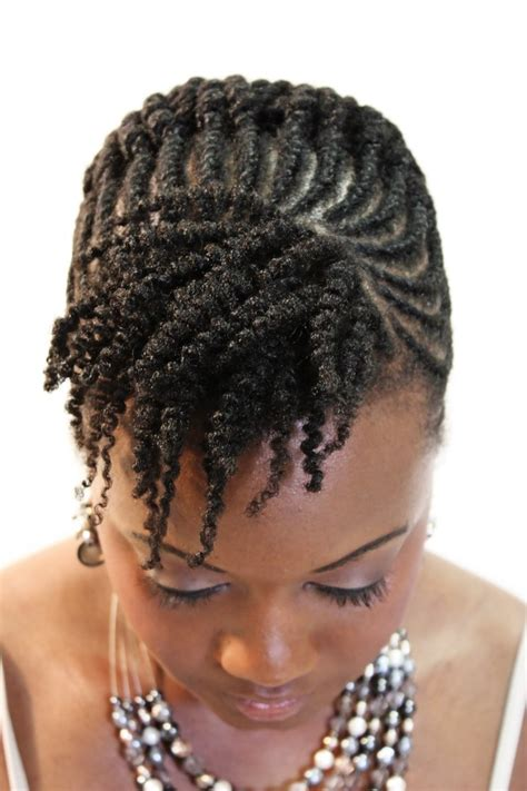 flat twist updo hairstyles pictures flat twists two strand twists au naturelle tr 232 s fab