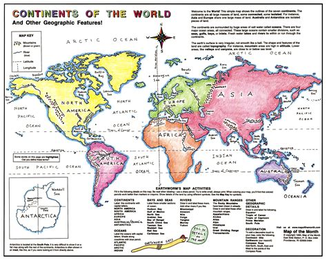 continent map continent basics maps for the classroom