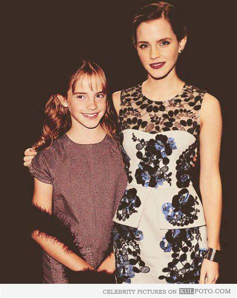 emma watson then and now this photo of young emma watson standing with old emma