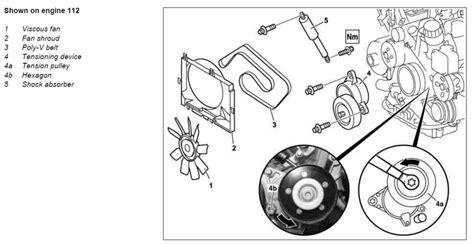 7 3 powerstroke fan clutch nut size torque spec on idler pulley belt tensioner mbworld