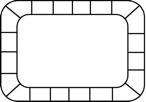 printable board template 8 best images of printable templates blank