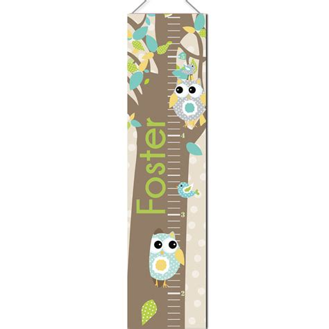 printable owl growth chart personalized growth chart owl pink little monkey designs