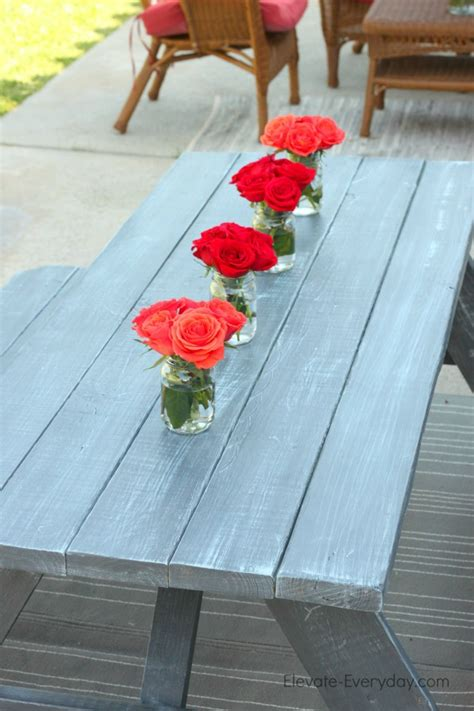 chalk paint bench ideas picnic table makeover with decoart elevate everyday
