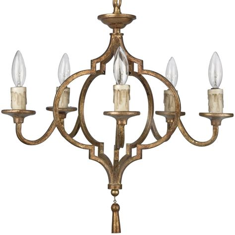 Country Chandeliers Coraline Country Antique Gold Arabesque 5 Light Chandelier Kathy Kuo Home