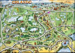 orlando florida map by kevin middleton