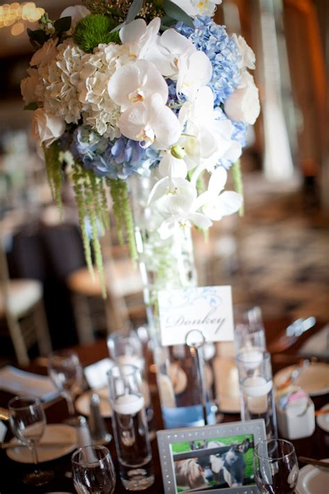 blue flowers for beautiful wedding centerpieces