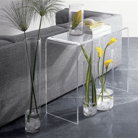 clear acrylic sofa table clear acrylic console table