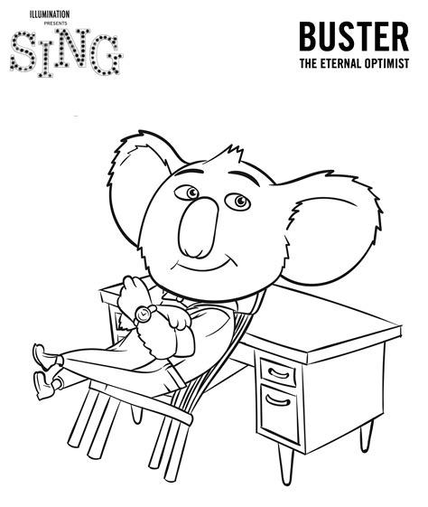 printable coloring pages cing sing movie coloring pages coloring home