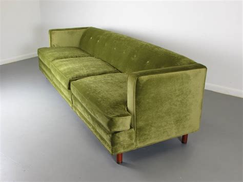 tuxedo style sofa striking velvet tuxedo sofa in the style of edward wormley