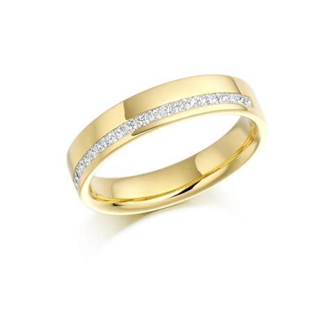 18 carat yellow gold princess cut diamonds offset half