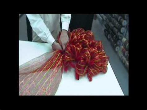 how to add wide mesh ribbon garland to a christmas tree wide mesh ribbon wreath trees n trends