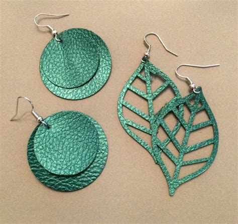 real s realm how to make faux leather earrings with