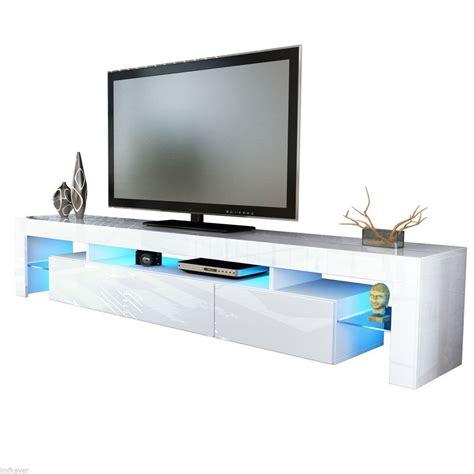 porta rgb porta tv vivaldi mobile bianco con led rgb per soggiorno