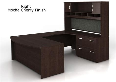 u shaped office desk with hutch bush series c u shaped executive office desk with hutch