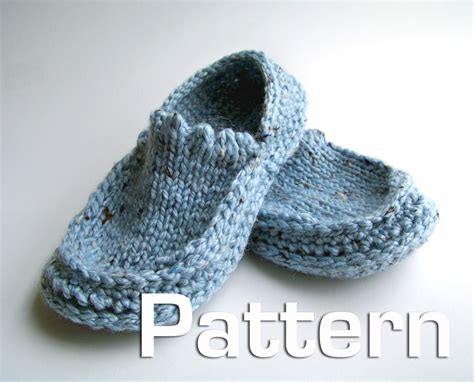 basic knit slipper pattern free easy knitting patterns easy slipper knitting