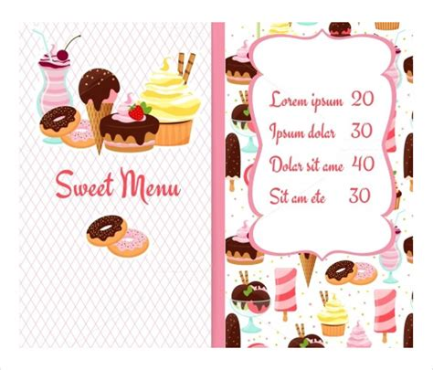 dessert menu templates dessert menu templates 21 free psd eps format