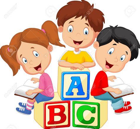 imagenes de niños felices animados 37538178 libro de lectura de los ni os de dibujos animados
