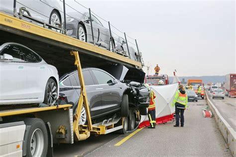 Tesla Transporter Serious Tesla Transporter On German Autobahn