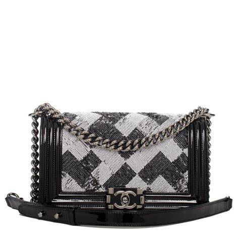 Karpet Mobil 5 In 1 Fashion Chanel chanel black and white sequin quilted medium boy bag world s best