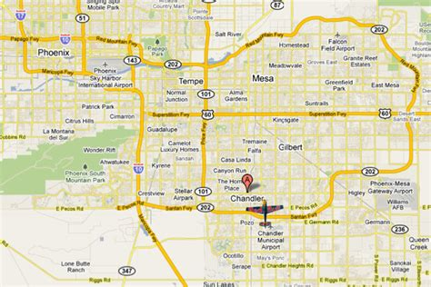 map of chandler arizona team chambliss bull air race pilot 187 chandler az