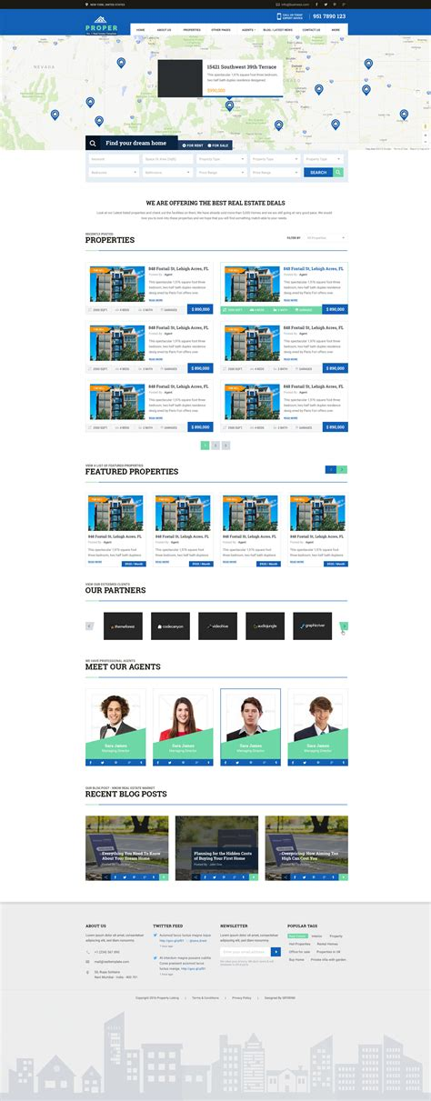 real estate listing website template property listing no 1 real estate psd template by