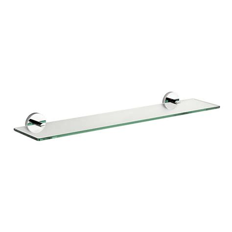 croydex pendle flexi fix glass shelf wickes co uk