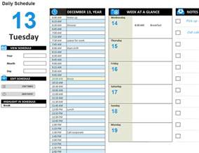 building work schedule template daily work schedule office templates