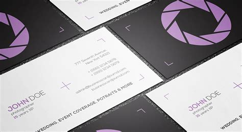 free clean minimal photography business card template