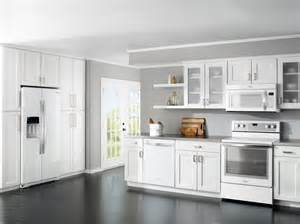 White Kitchen Cabinets With White Appliances Home Kitchen Design White Cabinets