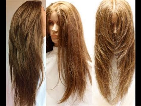 layered haircut for long hair youtube how to cut your own hair in long layers easy hair cut