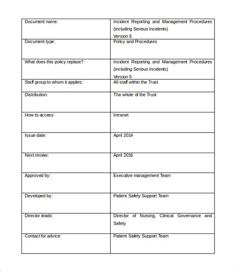 incident management template management report templates 22 free word pdf