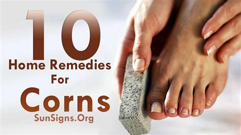 10 easy home remedies for corns sun signs