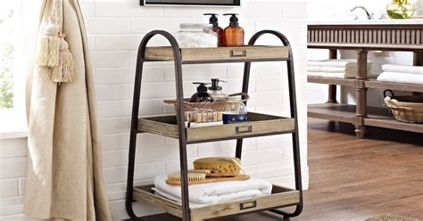 tiered bathroom stand top 10 stylish bathroom storage ideas overstock com