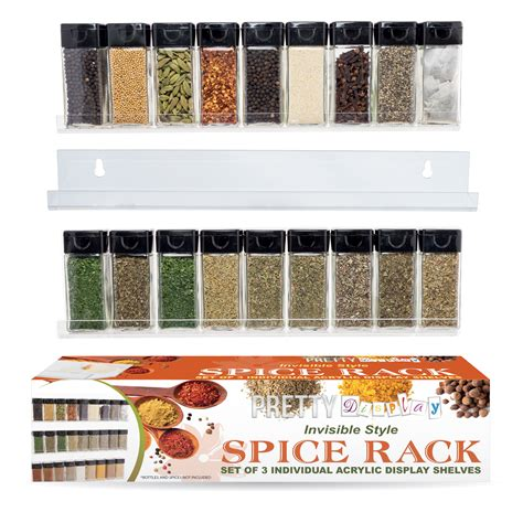 Display Spice Rack Acrylic Spice Rack Suits Every Kitchen Style 3 Shelf Set
