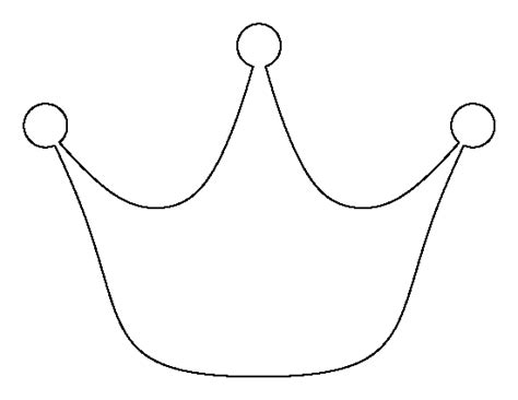 free printable princess crown template princess crown pattern use the printable outline for