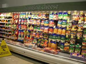 this american supermarket has a hanging cheese section