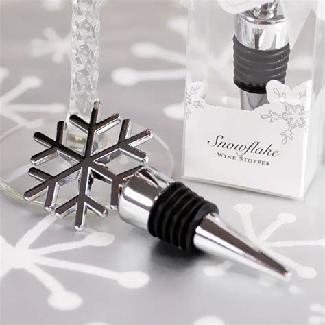 wine bottle stopper bridal shower favors silver snowflake wine stopper favor