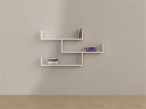 tibet wall shelf bookcase by matte white contemporary