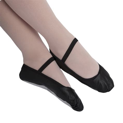 black leather ballet shoes for boys
