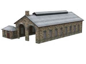 44 062z bachmann ner 2 road engine shed office building
