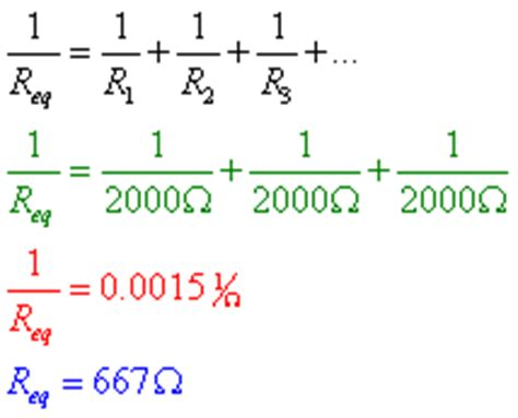 resistors in parallel equation circuit analysis