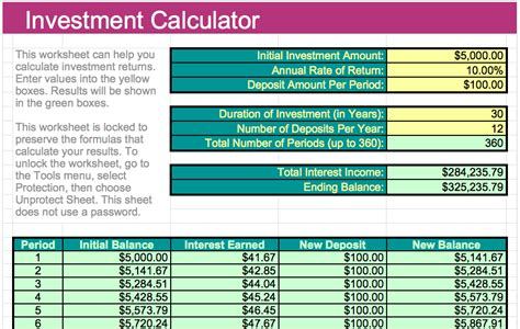 Investment Calculator Template For Numbers Free Iwork Templates Investment Template
