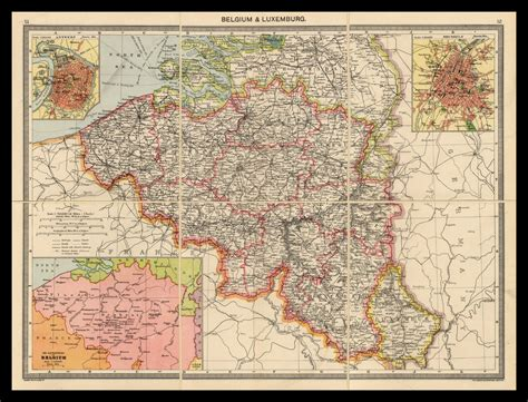 belgium and luxembourg map map of belgium luxembourg circa 1900